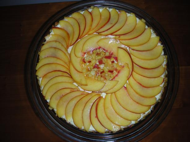 Frozen Peach Torte With Almond Crust