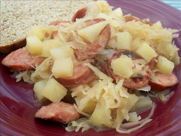 Sausage 'n Sauerkraut Skillet