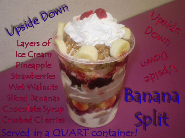 Chill out Upside-down Banana Split