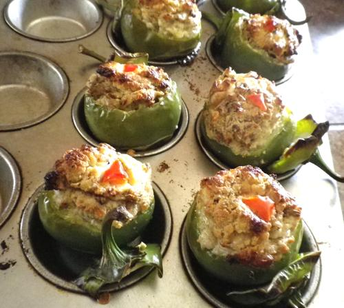 Hot Stuffed Cherry Peppers