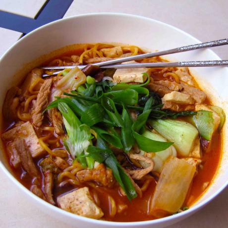 Grandma's Rainy Day Kimchi Noodle Soup