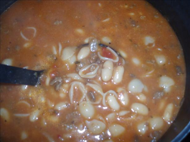 Easy and Delicious Vegetarian Soup (Pasta E Fagioli)