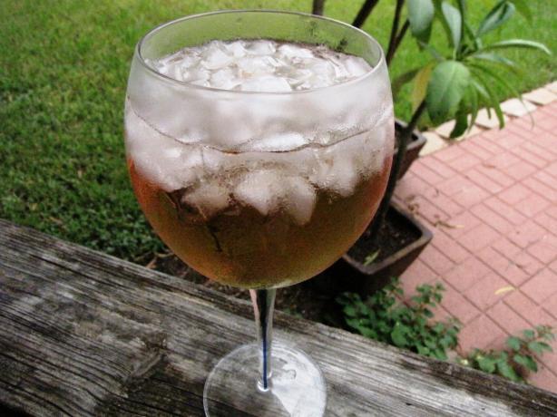 Homemade Cranberry Raspberry Wine Cooler