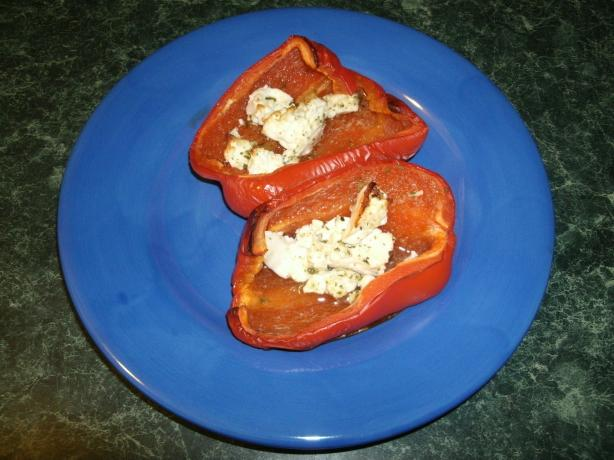 Baked Peppers With Feta Cheese