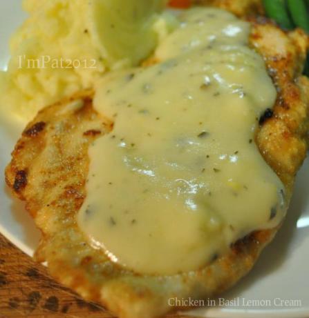 Chicken in Basil Lemon Cream