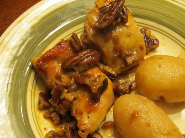 Chicken With Pecan Honey Sauce