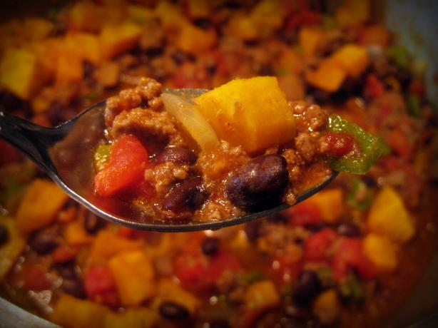 Chipotle Butternut Venison Chili