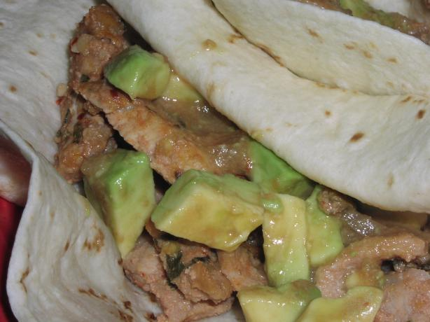 Lime and Beer Pork With Easy Chunky Guacamole