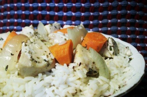 Roast Herbed Chicken and Veggies