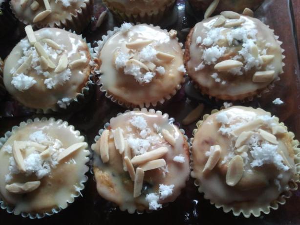 Mango Blueberry Muffins