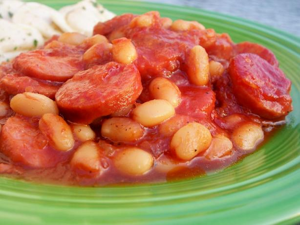 Barbecue Kielbasa and Beans