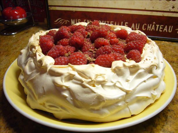Raspberry Cream Pavlova
