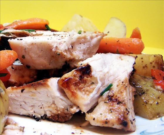 Honey Dijon Chicken and Vegetables