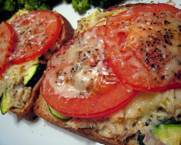 Low Cal Italian Tuna and Veggie Melt