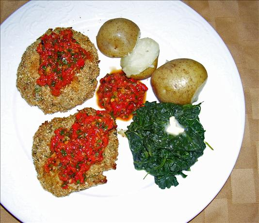Chicken Croquettes With Roasted Pepper Sauce