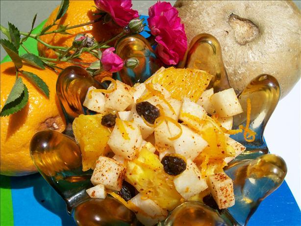 Jicama, Orange & Raisin Salad