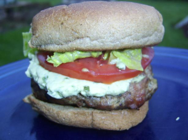 Bacon Turkey Burger With Avocado Dressing-Rachael Ray