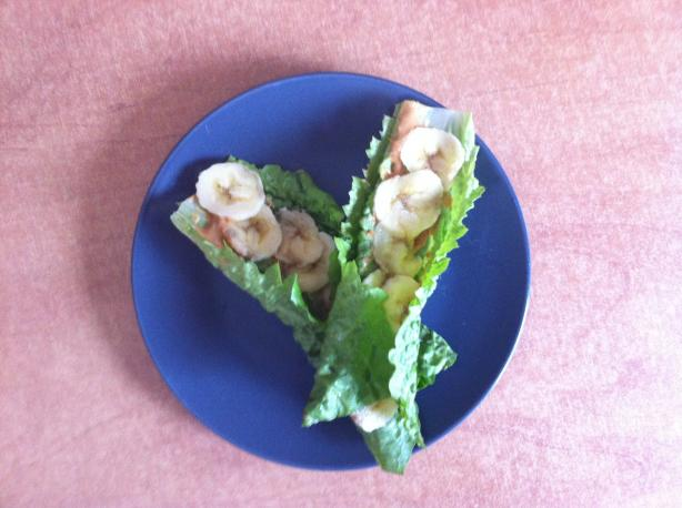 Lettuce, Banana, and Cashew Wrap