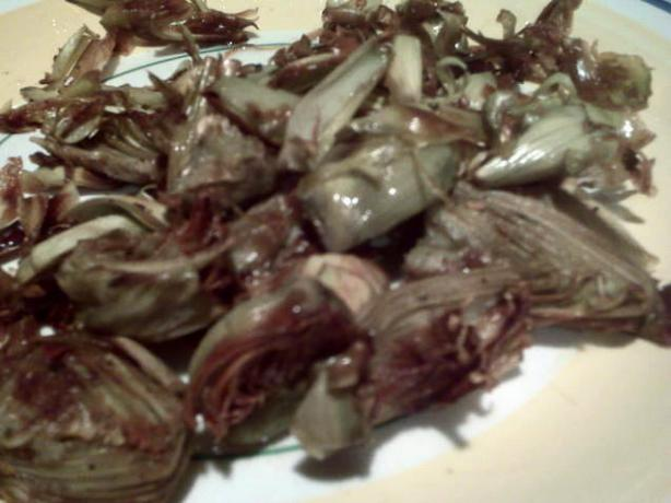 Pan Roasted Baby Artichokes