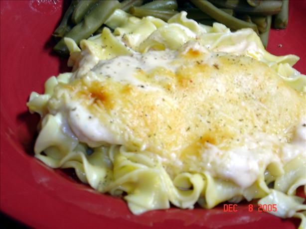 Parmigiana Thighs with Creamy Noodles