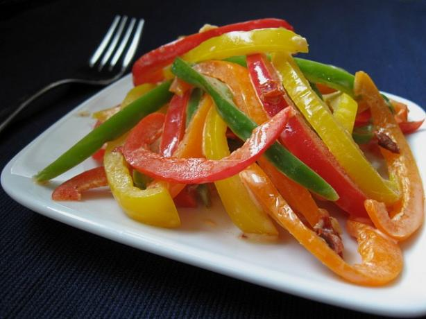 Three Bell Pepper Slaw With Chipotle Dressing