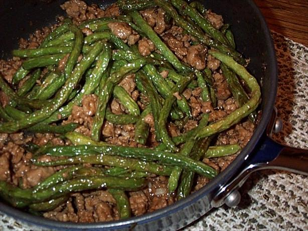 Chinese Ground Pork and Green Beans