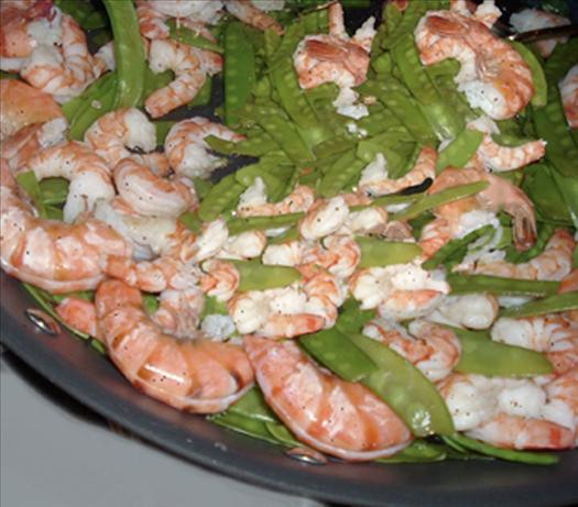 Prawns & Snow Peas by Ted