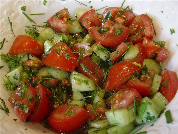 Simple Tomato Herb Salad