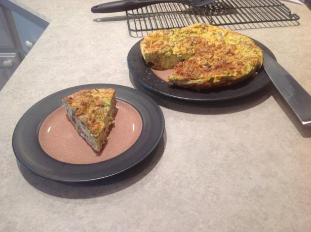 Crustless Herb and Mushroom Quiche