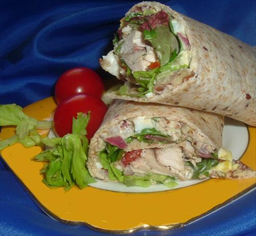 Hot Day Chicken Wrap, Quick & Easy