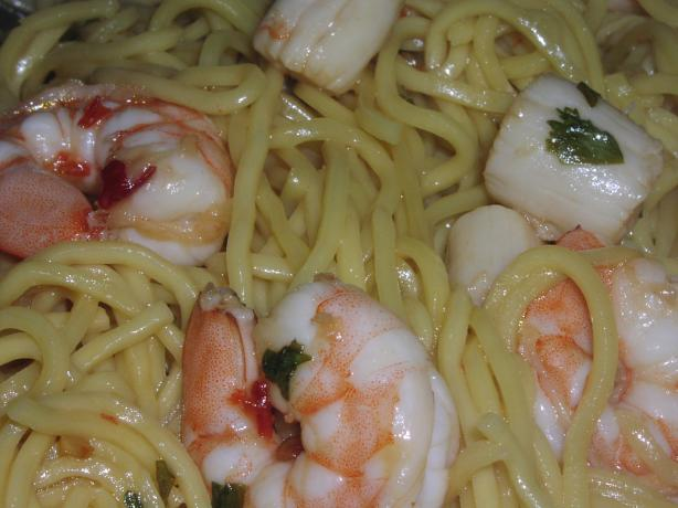Sesame-Ginger Pasta With Shrimp and Scallops