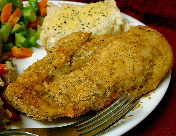 Golden Potato Coated Baked Chicken