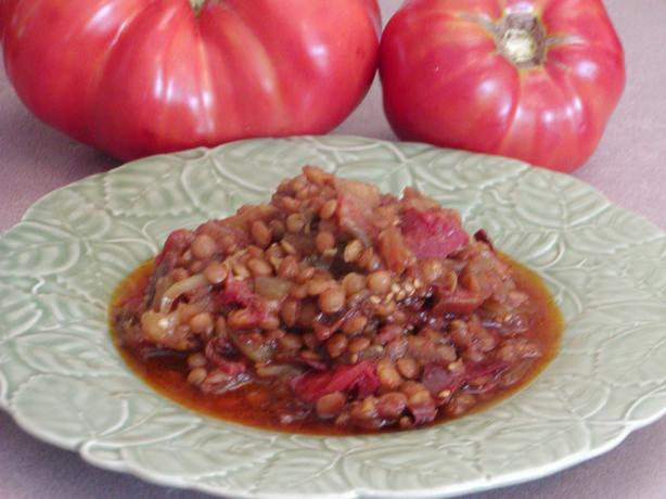 Turkish Eggplant (Aubergine) Lentil Stew