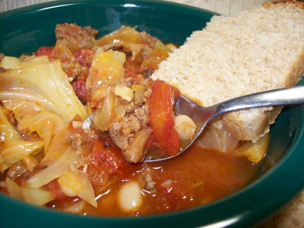 Cabbage Soup (With Beef and Beans)