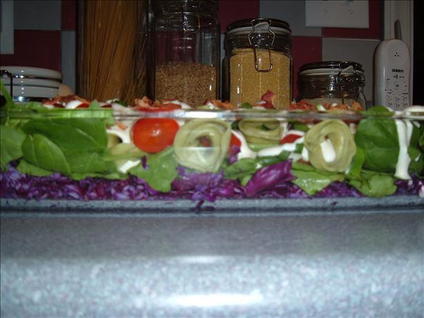 Spinach & Tortellini Layered Salad