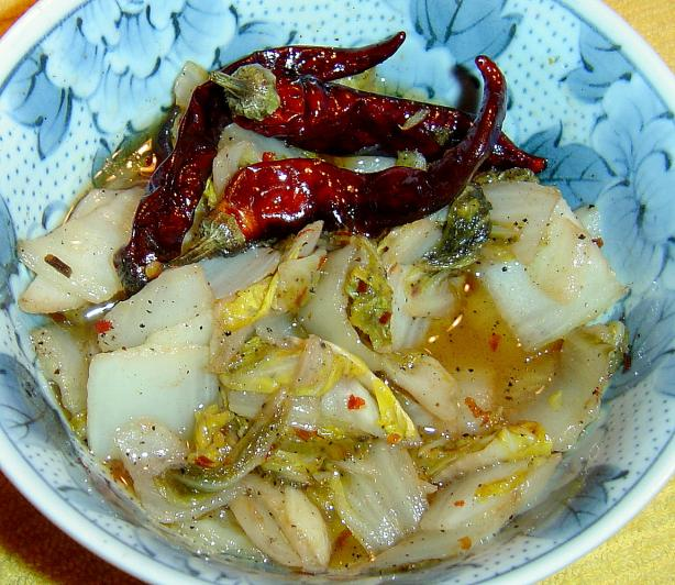 Hot and Sour Chinese Cabbage