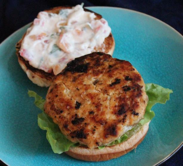Salmon Burgers With Tartar Mayonnaise
