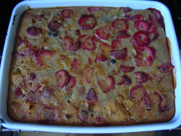 Polenta Bake With Plums and Berries (Gluten-Free)