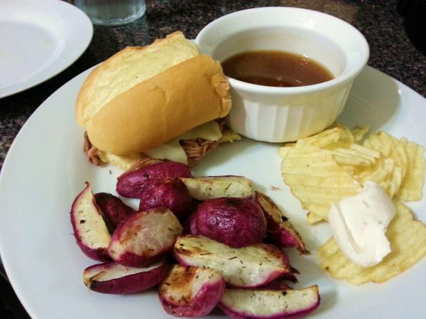 Shredded French-Dip Sandwiches