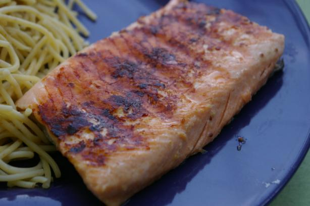 Salmon with Honey and Mustard Glaze