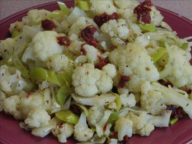 Cauliflower With Leeks and Sun-dried Tomatoes