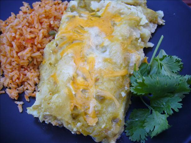 Cheesy Green Enchiladas