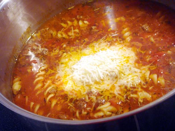 Quick, Quick, Quick Lasagna Soup