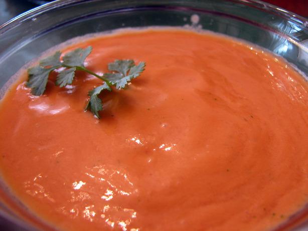 Raw Tomato Cilantro Soup