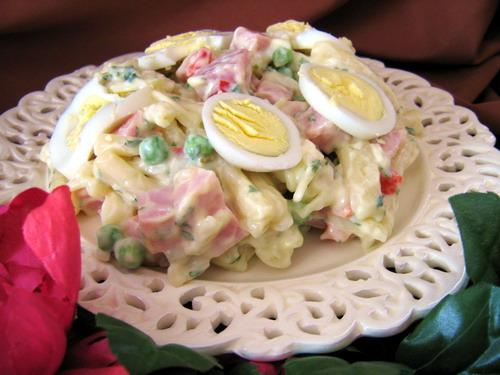 Danish Macaroni Salad With Ham