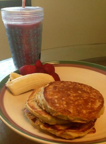 Quick Thick Oatmeal Pancakes