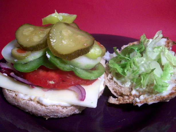 Veggie Delightful Sandwich à La Subway