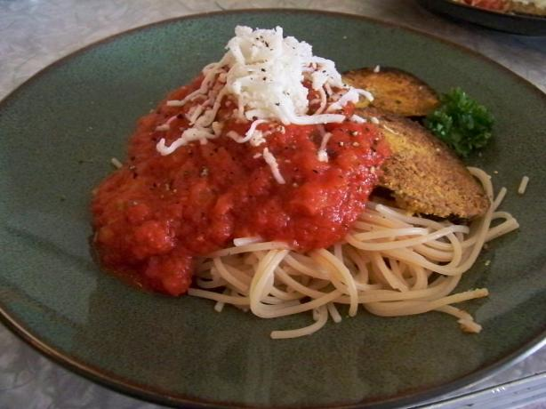 Not My Mom's Eggplant Parmesan (Vegan and Gluten-Free)