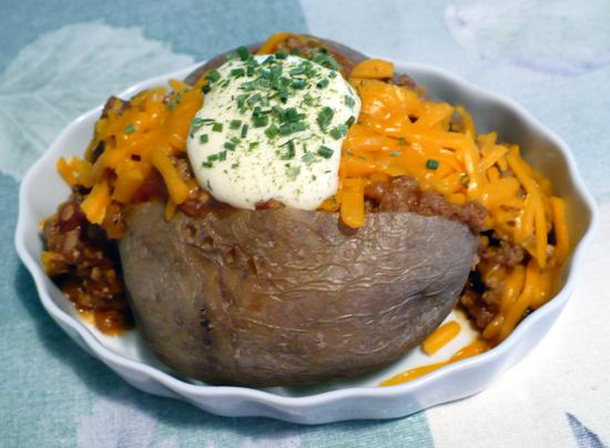 Baked Potatoes Ole