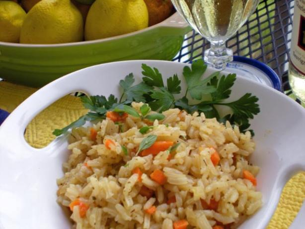 Riz Au Vin - Rice in White Wine